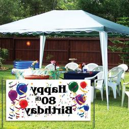 VictoryStore Yard Sign Outdoor Lawn Decorations: Happy 80th