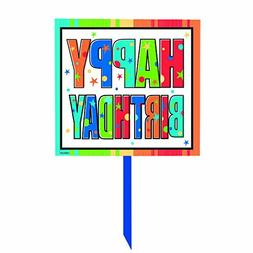 Amscan Happy Birthday Yard Sign, 6 Ct.