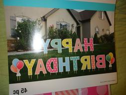 """HAPPY BIRTHDAY*Yard Sign*Lawn Sign* letters*15"""" tall"""