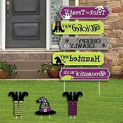 Big Dot of Happiness Happy Halloween Street Sign Cutouts - W