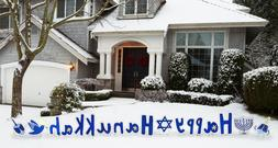 HAPPY HANUKKAH Set of Plastic Outdoor YARD SIGNS Standees St