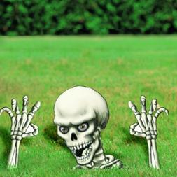 Haunted Halloween Horror Buried Skeleton Garden Yard Lawn Si