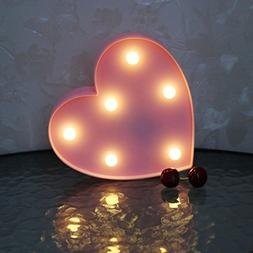 Romantic LED Heart Marquee Sign - Marquee Heart Lights Love
