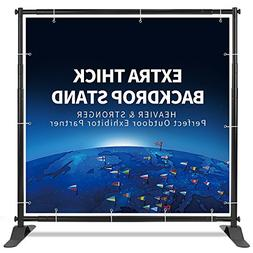 T-Sign 5'x7' - 8'x10' Heavy Duty Backdrop Banner Stand, Extr