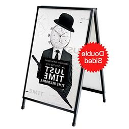 T-Sign Heavy Duty Slide-in Folding A-Frame Sidewalk Sign 24'