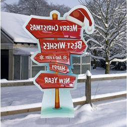 Holiday Directional Sign Yard Standee