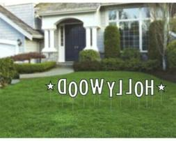 Hollywood Staked Letters Yard Sign Party Supply New amscan