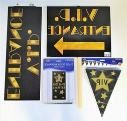 Hollywood V.I.P Party Decorations pack - VIP Yard Sign Bunti