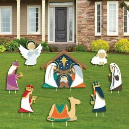 Big Dot of Happiness Holy Nativity - Yard Sign and Outdoor L