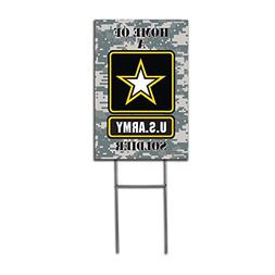 "Visibility Signage Home of a US Army Soldier 12"" x 18"" Yard"