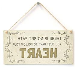 Home Decor Plaque Sign There Is No Set Path You Just Have To