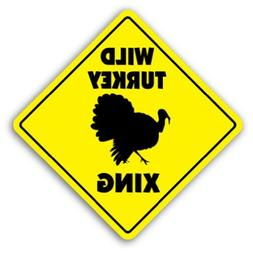 Home Decor Sign Wild Turkey Crossing Sign Novelty Farm Fowl