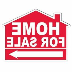 Home for Sale House Shaped Yard Sign - with EZ Stakes