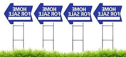 Home For Sale Arrow Shaped Sign Kit with Stands - 4 Pack