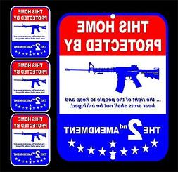 Home Protected By 2nd Amendment Security Alarm Gun Yard Sign