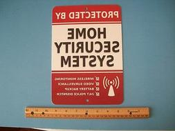 "Home Security Alarm System 7"" x 10""  Metal Yard Sign - Stock"