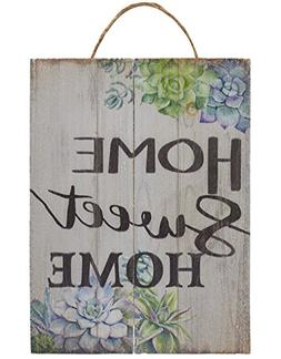 Juvale Home Sweet Home Wall Ornament, Wooden Hanging Decorat