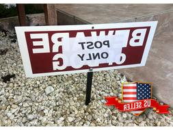 """Home Yard Sign Stake Post 9"""" For Lawn Security System In Use"""