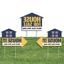 Big Dot of Happiness House For Sale Sign - Yard Sign with St