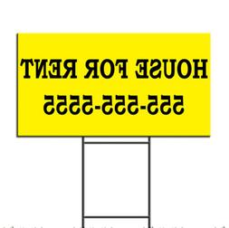 House For Rent Real Estate Custom Personalized Plastic Yard