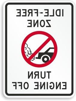 Idle-Free Zone, Turn Off Engine (with, Diamond Grade Reflect