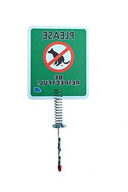 Premium - Dog Poop Signs for Yard | Stops Dogs from Pooping,