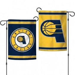 """Indiana Pacers 2 Sided 12.5"""" x 18"""" Garden Flag  NBA Banner S"""