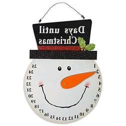 DII Indoor/Outdoor Hanging Snowman Advent Calendar for the H