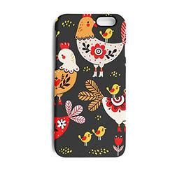 iPhone 6 Case,iPhone 6s Case Black Yard Rooster and Chick Sl