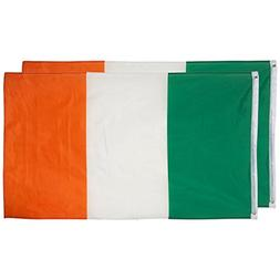 Juvale Ireland Flags - Pack of 2 Irish Flags - Perfect for S
