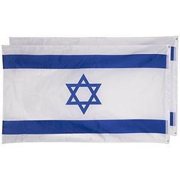 Israel Flags - Pack of 2 Israeli Flags - Perfect Jewish Even