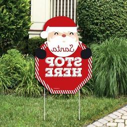 Big Dot of Happiness Jolly Santa Claus - Santa Stop Here Yar