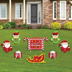 Jolly Santa Claus - Merry Christmas Yard Sign & Outdoor Lawn