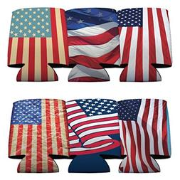 VictoryStore Can and Beverage Coolers: 4th of July Patriotic