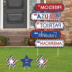 Big Dot of Happiness 4th of July - Street Sign Cutouts - Ind