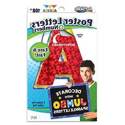 ArtSkills Jumbo Poster Letters and Numbers, A-Z and 0-9, Ass
