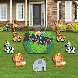 Jungle Party Animals - Yard Sign & Outdoor Lawn Decorati