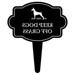 iCandy Products Inc Keep Dogs Off Grass Sign Home Pet Warnin