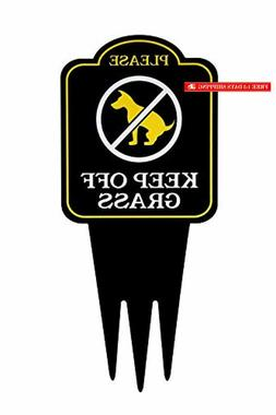 keep off grass yard sign with stake