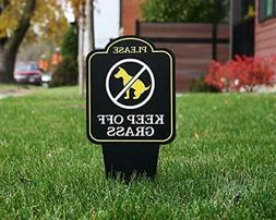 Keep Off Grass Yard Sign With Stake No Dogs No Pets No Peein