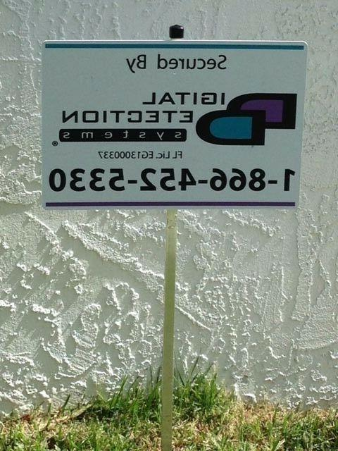 1 reflective dds security yard sign mounted