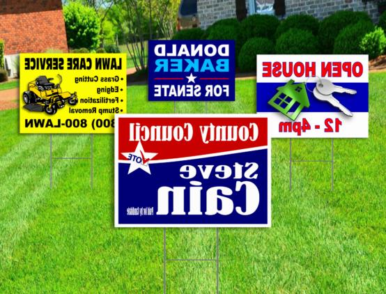 10 18x24 yard signs custom design full