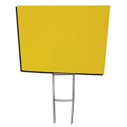Box of Blank Yellow 18x24 with H-stakes Garage Signs, Rent, Open Sale, Hiring, or Political
