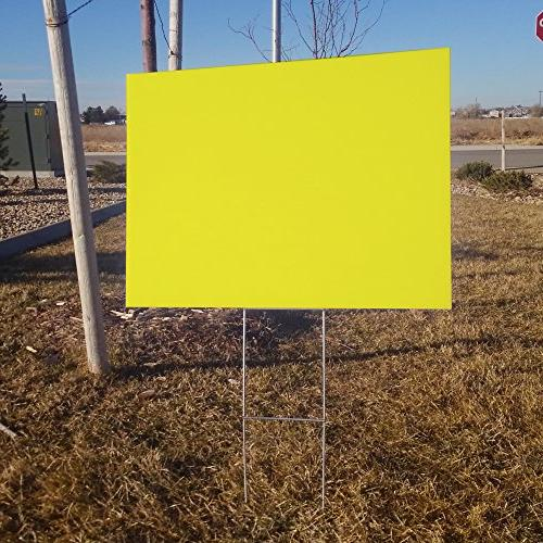 Box Blank Yard Signs 18x24 H-stakes for Garage Rent, Open Sale, Political Signs