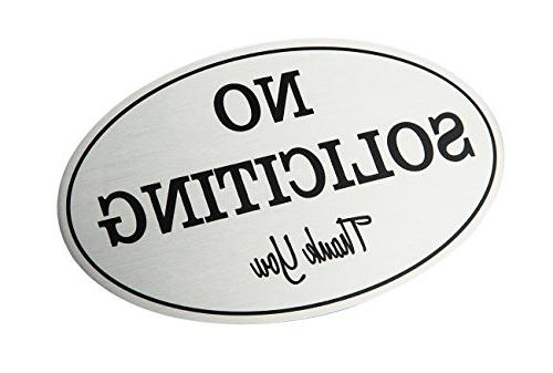 2-Pack - Private Solicitation Oval Signs or - inches