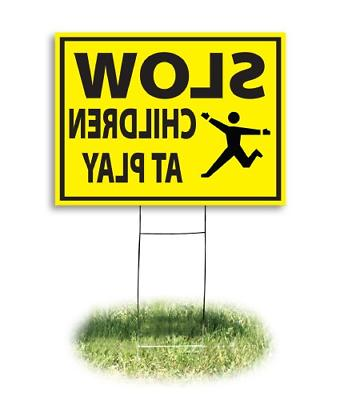4731 yard sign slow children at play