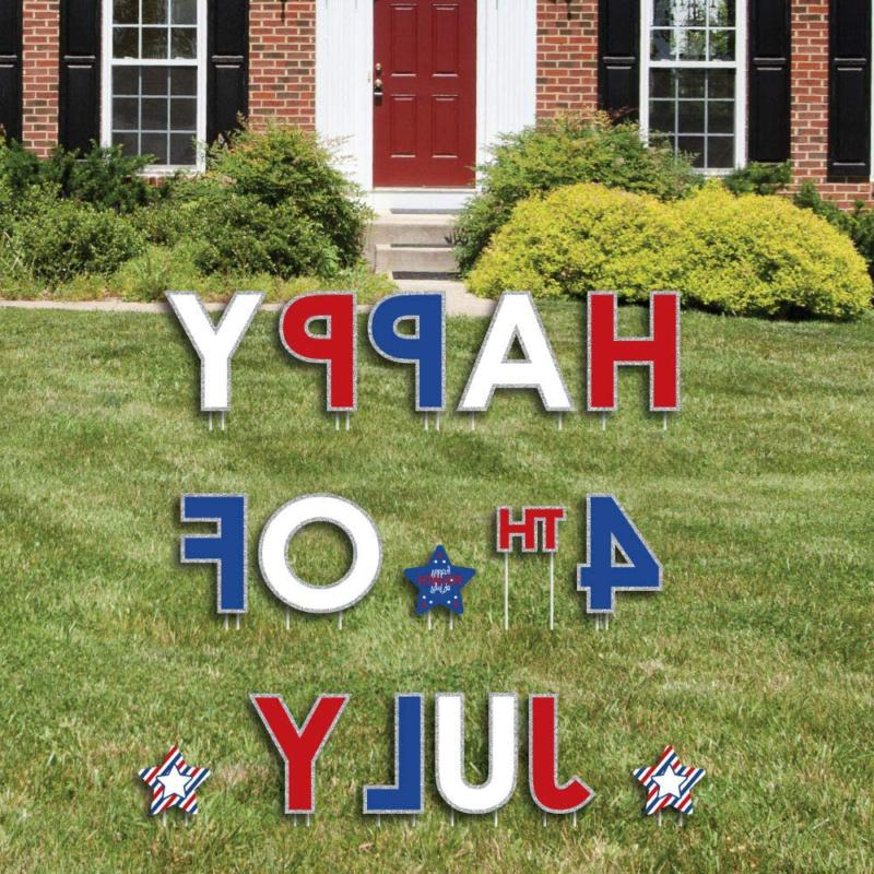 Big Of 4Th Yard Outdoor Decorations