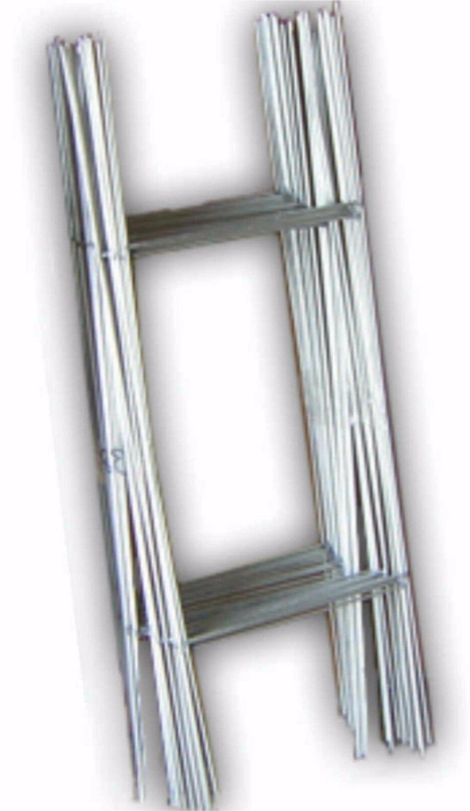 """50 -10""""x30"""" """"H"""" Wire Step Stakes - Yard Sign Wire Stands - P"""