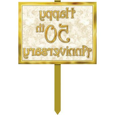 50th Anniversary Yard Sign Party Accessory