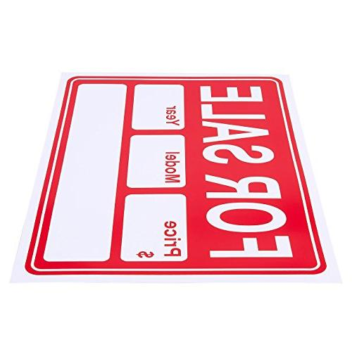 6-Piece - Yard Sale Garage Signs, and White 15.7 x 11.7 Inches